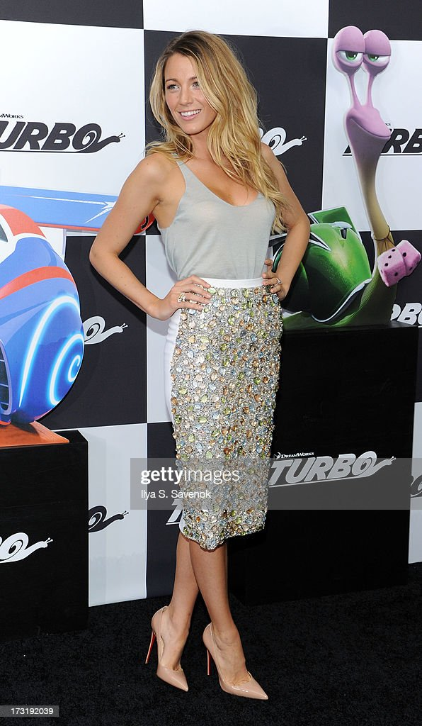 Actress Blake Lively attends the 'Turbo' New York Premiere at AMC Loews Lincoln Square on July 9, 2013 in New York City.