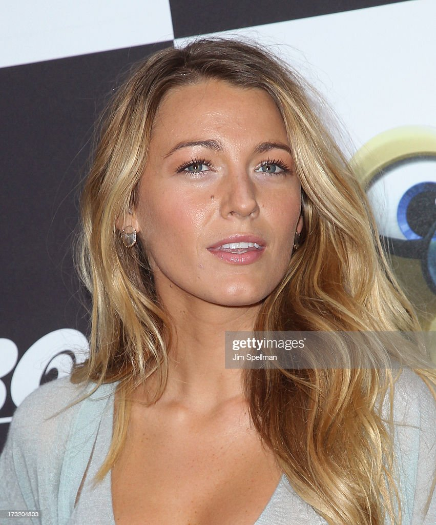 Actress <a gi-track='captionPersonalityLinkClicked' href=/galleries/search?phrase=Blake+Lively&family=editorial&specificpeople=221673 ng-click='$event.stopPropagation()'>Blake Lively</a> attends the 'Turbo' New York Premiere at AMC Loews Lincoln Square on July 9, 2013 in New York City.