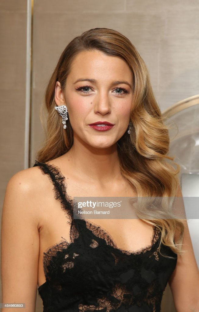Actress <a gi-track='captionPersonalityLinkClicked' href=/galleries/search?phrase=Blake+Lively&family=editorial&specificpeople=221673 ng-click='$event.stopPropagation()'>Blake Lively</a> attends the unveiling of Van Cleef & Arpels redesigned New York 5th Avenue Flagship Maison at Van Cleef & Arpels on December 10, 2013 in New York City.