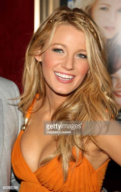 Actress Blake Lively attends the world premiere of 'The Sisterhood Of The Traveling Pants 2' presented by Warner Bros Pictures at the Ziegfeld...