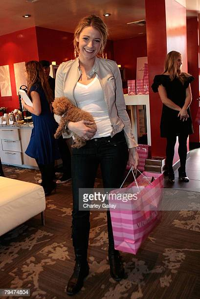 Actress Blake Lively attends Victoria's Secret Super Bowl Gifting Suite in celebration of the 42nd Annual Super Bowl on February 1 2008 in Paradise...
