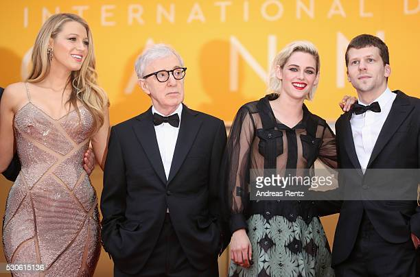 Actress Blake Lively director Woody Allen actress Kristen Stewart and actor Jesse Eisenberg attend the 'Cafe Society' premiere and the Opening Night...