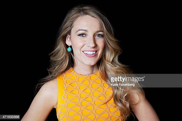 LOS ANGELES CA APRIL 11 2015 Actress Blake Lively is photographed for Los Angeles Times on April 11 2015 in Los Angeles California PUBLISHED IMAGE...