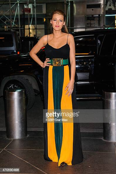 Actress Blake Lively is seen on April 21 2015 in New York City