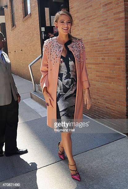 Actress Blake Lively is seen walking in Soho April 23 2015 in New York City
