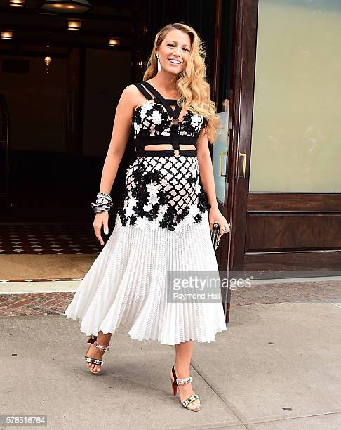 Actress Blake Lively is seen walking in Soho on July 15 2016 in New York City