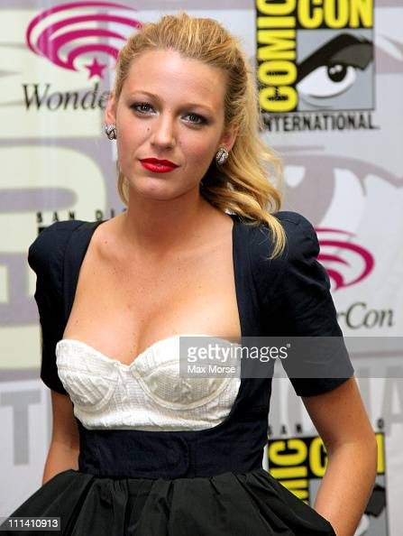Actress Blake Lively poses during 2011 WonderCon at Moscone Convention Center on April 1 2011 in San Francisco California