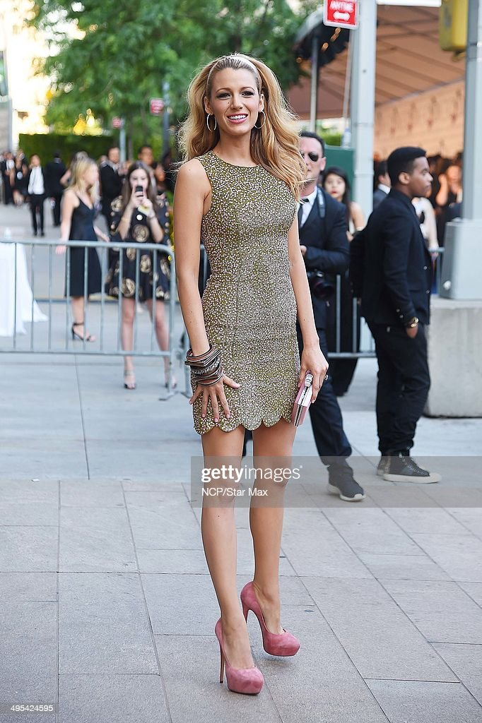 Actress Blake Livley is seen arriving at The 2014 CFDA Fashion Awards on June 2, 2014 in New York City.