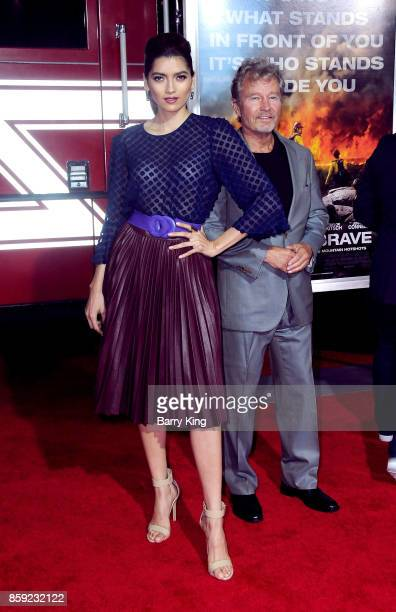Actress Blanca Blanco and actor John Savage attend the premiere of Columbia Pictures' 'Only The Brave' at Regency Village Theatre on October 8 2017...