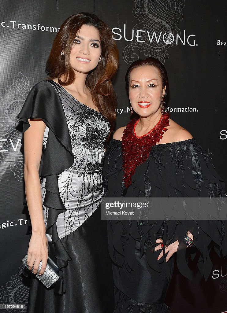 Actress <a gi-track='captionPersonalityLinkClicked' href=/galleries/search?phrase=Blanca+Blanco&family=editorial&specificpeople=9472294 ng-click='$event.stopPropagation()'>Blanca Blanco</a> (L) and designer Sue Wong attend the Sue Wong Fall 2013 Great Gatsby Collection Unveiling and Birthday Celebration on April 19, 2013 in Los Angeles, California.