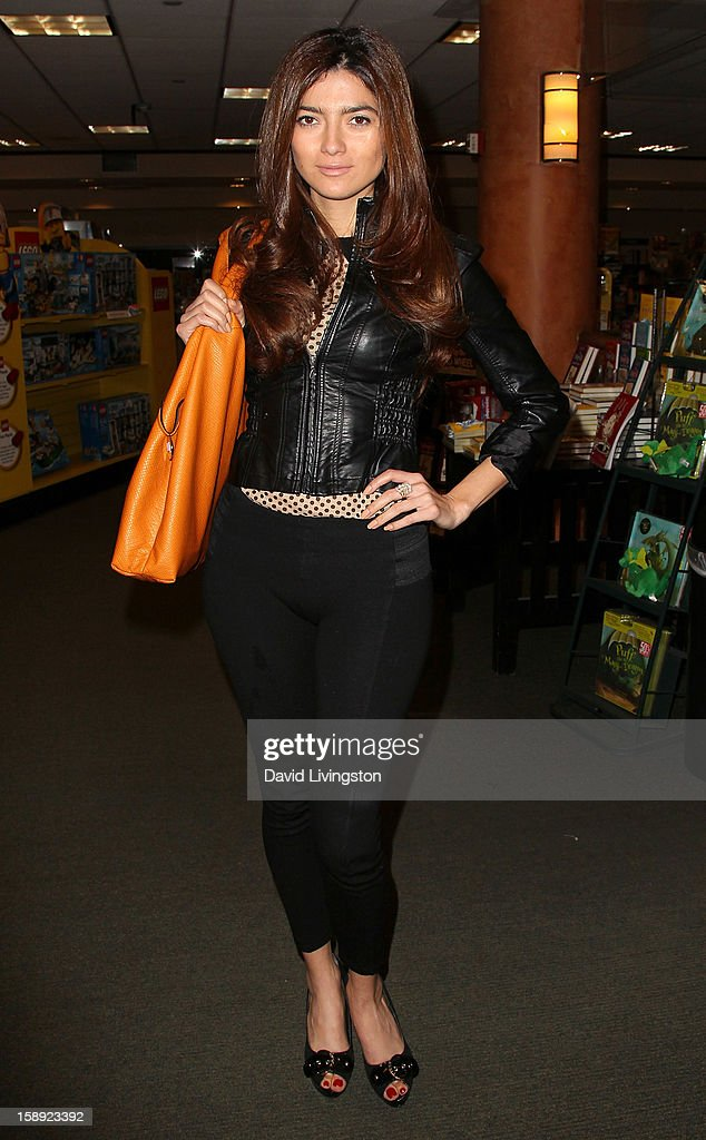 Actress Blanca Blanco attends a signing of Christopher Kennedy Lawford's book 'Recover to Live: Kick Any Habit, Manage Any Addiction' at Barnes & Noble 3rd Street Promenade on January 3, 2013 in Santa Monica, California.