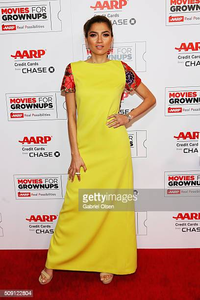Actress Blanca Blanco attends AARP's 15th Annual Movies For Grownups Awards at the Beverly Wilshire Four Seasons Hotel on February 8 2016 in Beverly...