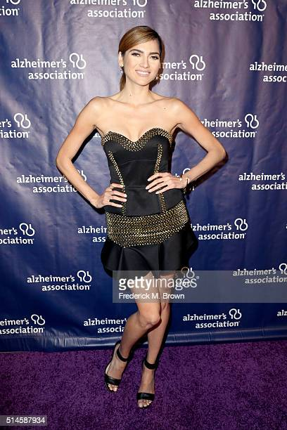 Actress Blanca Blanco attends the 24th and final 'A Night at Sardi's' to benefit the Alzheimer's Association at The Beverly Hilton Hotel on March 9...