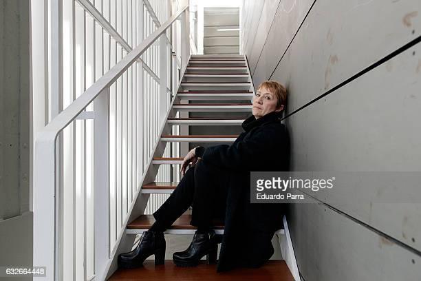 Actress Blanca Portillo attends 'El Cartografo' press conference at Matadero Madrid on January 25 2017 in Madrid Spain