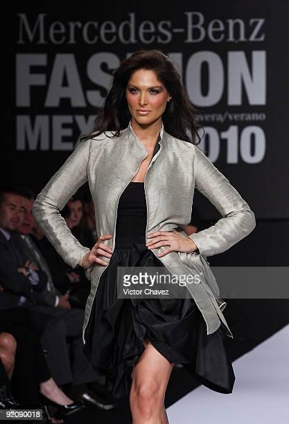 Actress Blanca Soto walks the runway wearing Carlo Demichelis Spring/Summer 2010 during MercedesBenz Fashion Mexico at the Antara Polanco Fashion...