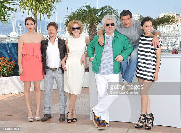Actress Blanca Suare actor Jan Cornetactress Marisa Paredes director Pedro Almodovaractor Antonio Banderas actress Elena Anaya attend 'The Skin I...