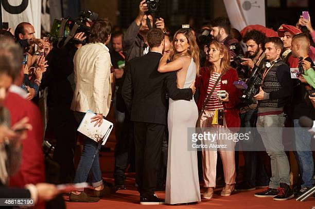 Actress Blanca Suarez and actor Alvaro Cervantes attend the 'Carlos Rey Emperador' premiere during the 7th FesTVal Television Festival 2015 at the...