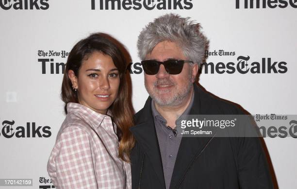 Actress Blanca Suarez and director Pedro Almodovar attend TimesTalks Presents Pedro Almodovar at TheTimesCenter on June 7 2013 in New York City