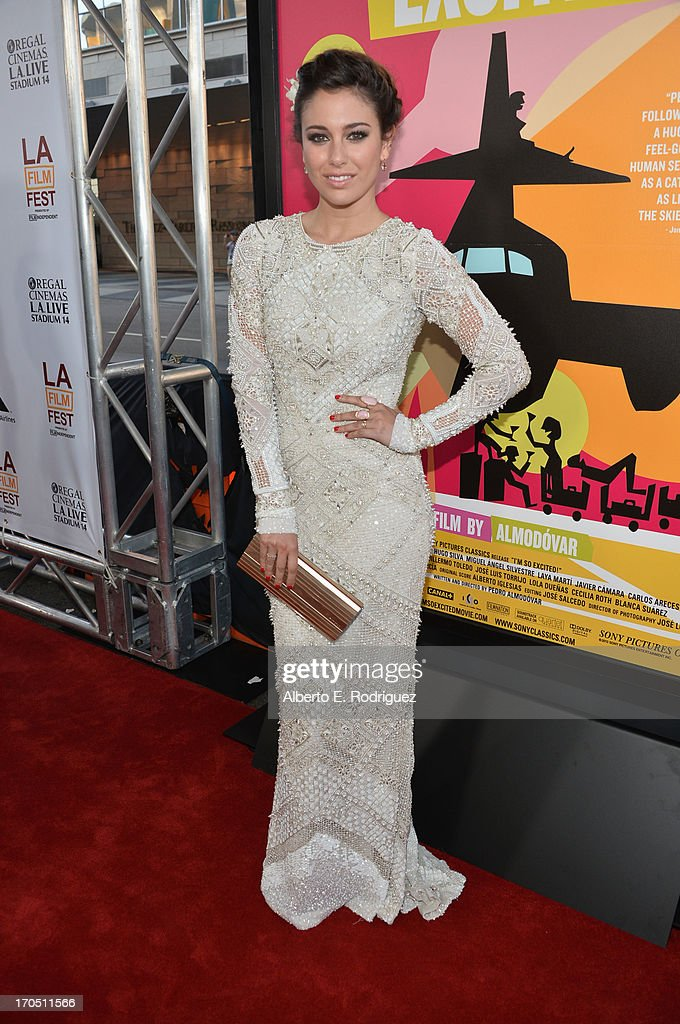 Actress Blanca Suarez arrives at the 2013 Los Angeles Film Festival Opening Night Gala Premiere of 'I'm So Excited' at Regal Cinemas LA Live on June...