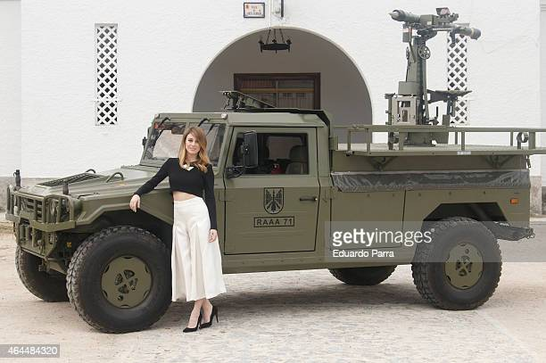 Actress Blanca Suarez attends 'Los nuestros' TV series presentation at Antiaircraft Artillery Command on February 26 2015 in Madrid Spain