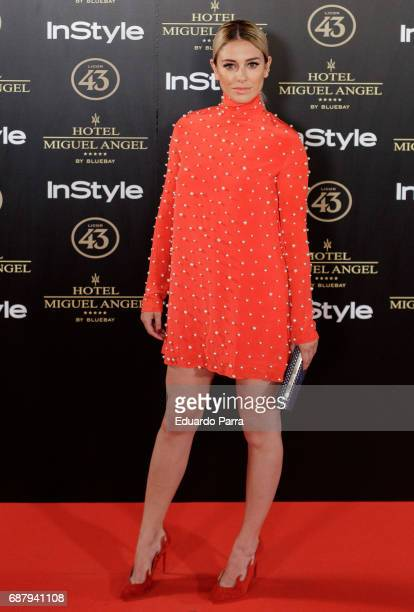 Actress Blanca Suarez attends the 'El Jardin del Miguel Angel' party photocall at Miguel Angel hotel on May 24 2017 in Madrid Spain
