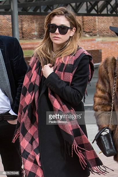 Actress Blanca Suarez attends the funeral service for actress Amparo Baro at 'La Almudena' cemetery on January 30 2015 in Madrid Spain