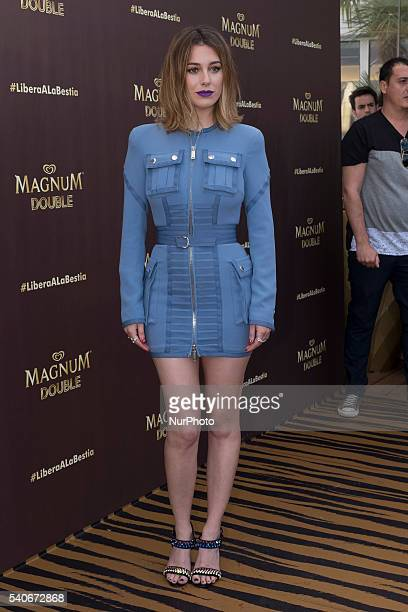 Actress Blanca Suarez attends the presentation of the new Magnum campaign in the ME Madrid hotel on June 15 2016