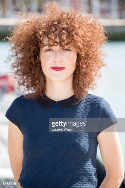 Actress Blandine Bellavoir attends 'Petits Meutres d'Agatha Christie' Photocall during 19th Festival Of TV Fiction on September 14 2017 in La...