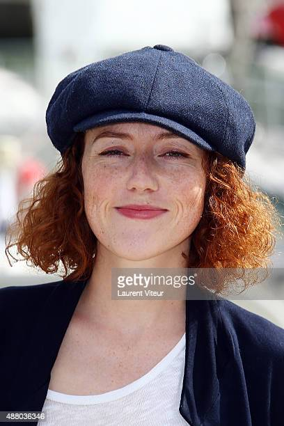 Actress Blandine Bellavoir attends the 'Petits Meutres D'Agatha Christie' Photocall during the 17th Festival of TV Fiction At La Rochelle on...