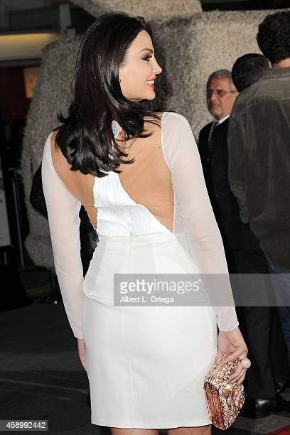 Actress Bleona Qereti arrives for the Premiere Of Universal Pictures And Red Granite Pictures' 'Dumb And Dumber To' held at the Regency Village...