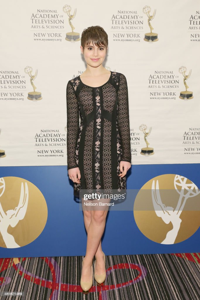 Actress Blue Bloods CBS Sami Gayle arrives at the 57th Annual New York Emmy awards at Marriott Marquis Times Square on March 30 2014 in New York City