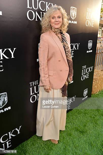 Actress Blythe Danner arrives at the Los Angeles premiere of 'The Lucky One' at Grauman's Chinese Theatre on April 16 2012 in Hollywood California
