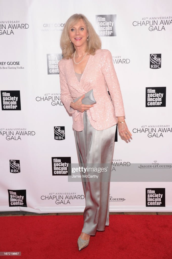 Actress Blythe Danner attends the 40th Anniversary Chaplin Award Gala at Avery Fisher Hall at Lincoln Center for the Performing Arts on April 22, 2013 in New York City.