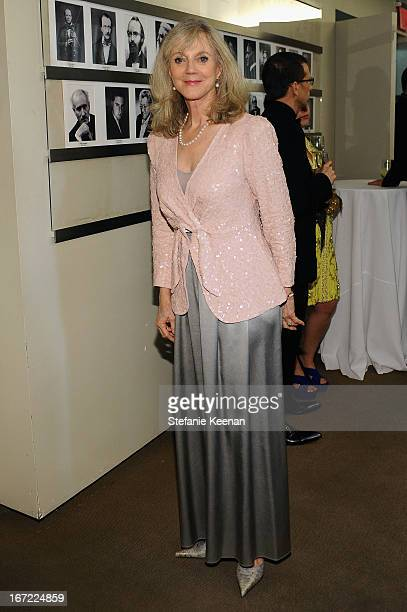 Actress Blythe Danner attends the Grey Goose cocktail reception of The Film Society of Lincoln Center's 40th Chaplin Award Gala at Avery Fisher Hall...