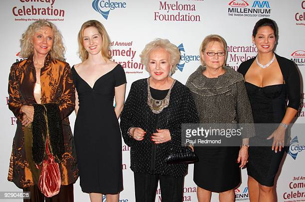 Actress Blythe Danner Lucy Boyle Actress Doris Roberts Loraine Boyle and actress Alex Meneses arrive at the 3rd Annual Comedy Celebration For The...