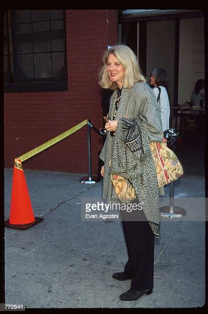 Actress Blythe Danner stands at the 'Kids for Kids' benefit carnival October 1 1995 in New York City The carnival which was funded by Harper's Bazaar...