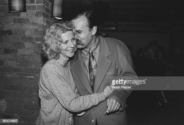 Actress Blythe Danner w prob Paul Gurian at private screening of Adrian Lyne's Jacob's Ladder
