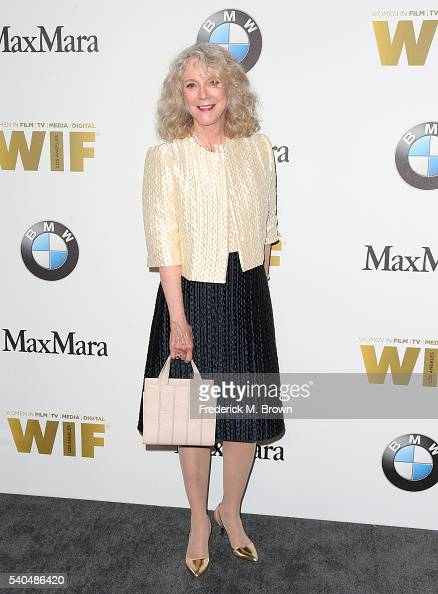 Actress Blythe Danner wearing Max Mara attends Women In Film 2016 Crystal Lucy Awards Presented by Max Mara and BMW at The Beverly Hilton on June 15...