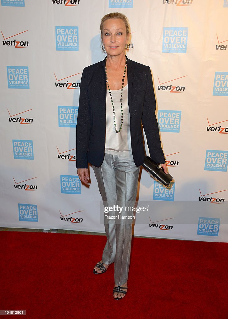 Actress <a gi-track='captionPersonalityLinkClicked' href=/galleries/search?phrase=Bo+Derek&family=editorial&specificpeople=204653 ng-click='$event.stopPropagation()'>Bo Derek</a> arrives at the 41st Annual Peace Over Violence Humanitarian Awards held at Beverly Hills Hotel on October 26, 2012 in Beverly Hills, California.