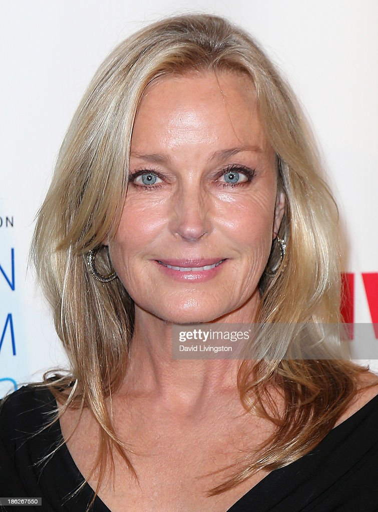 Actress <a gi-track='captionPersonalityLinkClicked' href=/galleries/search?phrase=Bo+Derek&family=editorial&specificpeople=204653 ng-click='$event.stopPropagation()'>Bo Derek</a> attends the IWMF Courage in Journalism Awards 2013 at the Beverly Hills Hotel on October 29, 2013 in Beverly Hills, California.