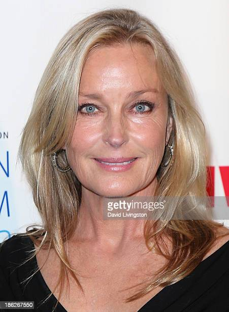 Actress Bo Derek attends the IWMF Courage in Journalism Awards 2013 at the Beverly Hills Hotel on October 29 2013 in Beverly Hills California