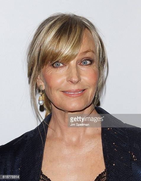Actress Bo Derek attends the 'My Big Fat Greek Wedding 2' New York premiere at AMC Loews Lincoln Square 13 theater on March 15 2016 in New York City