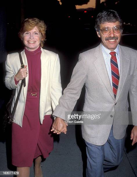 Actress Bonnie Franklin and husband Marvin Minoff attend the 'Cloud Nine' Opening Night Performance on May 8 1983 at the Los Angeles Stage Company...