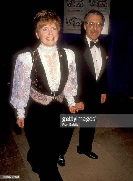 Actress Bonnie Franklin and husband Marvin Minoff attend the Eighth Annual American Cinema Awards on January 12 1991 at Beverly Hilton Hotel in...