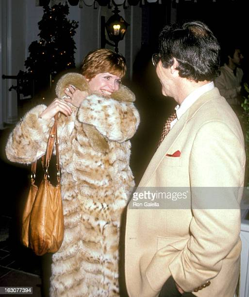 Actress Bonnie Franklin and husband Marvin Minoff attend the WrapUp Party for the Fifth Season of 'One Day at a Time' on March 7 1980 at Chasen's...