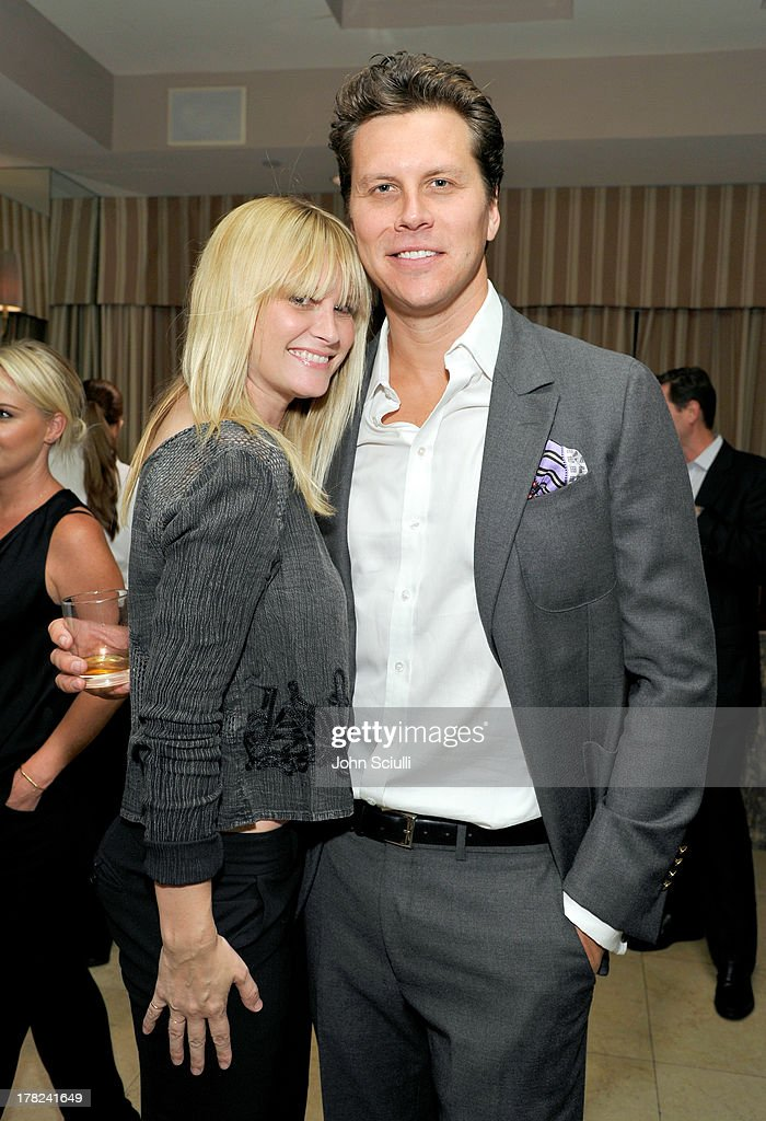 Actress Bonnie Somerville (L) and comedian Hayes MacArthur celebrate the release of Ali Larter's new cookbook 'Kitchen Revelry' with Perrier-Jouet at Sunset Tower on August 27, 2013 in West Hollywood, California.