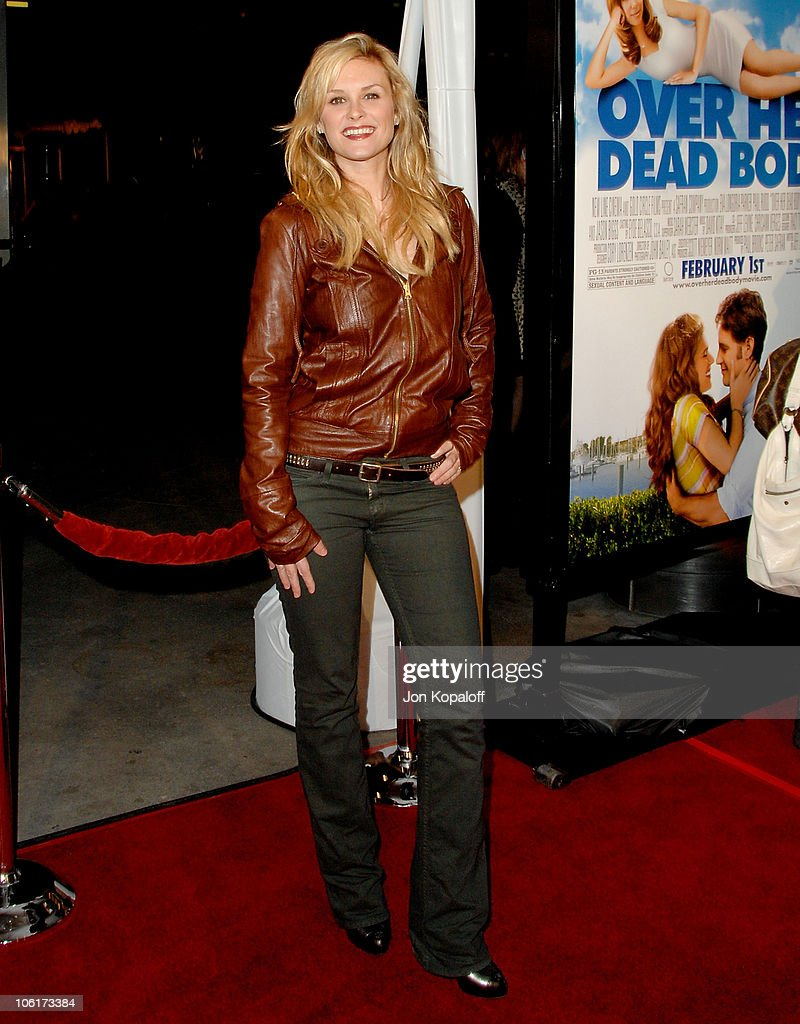 Actress Bonnie Somerville arrives at the Los Angeles Premiere 'Over Her Dead Body' at the ArcLight Hollywood Theater on January 29 2008 in Hollywood...
