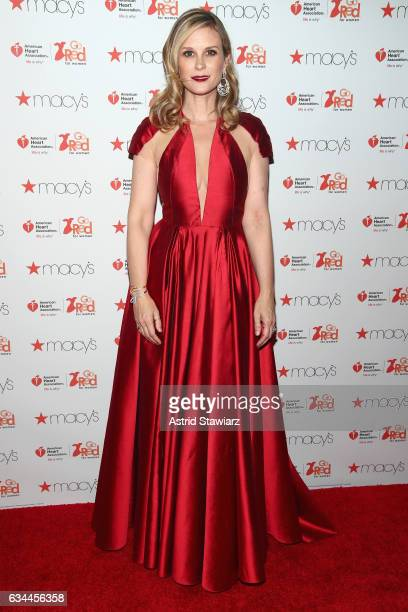 Actress Bonnie Somerville attends the American Heart Association's Go Red For Women Red Dress Collection 2017 presented by Macy's at Fashion Week in...