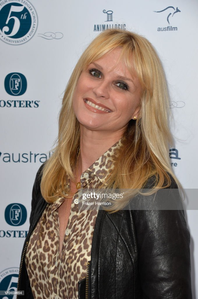 Actress <a gi-track='captionPersonalityLinkClicked' href=/galleries/search?phrase=Bonnie+Somerville&family=editorial&specificpeople=239193 ng-click='$event.stopPropagation()'>Bonnie Somerville</a> attends the Australians In Film and Heath Ledger Scholarship Host 5th Anniversary Benefit Dinner on June 12, 2013 in Los Angeles, California.