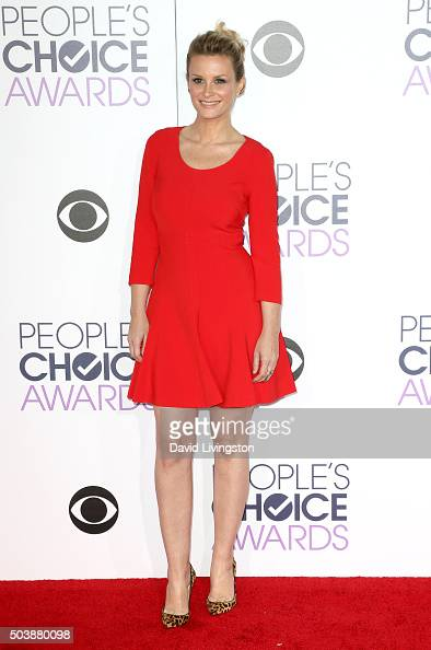 Actress Bonnie Somerville attends the People's Choice Awards 2016 at Microsoft Theater on January 6 2016 in Los Angeles California